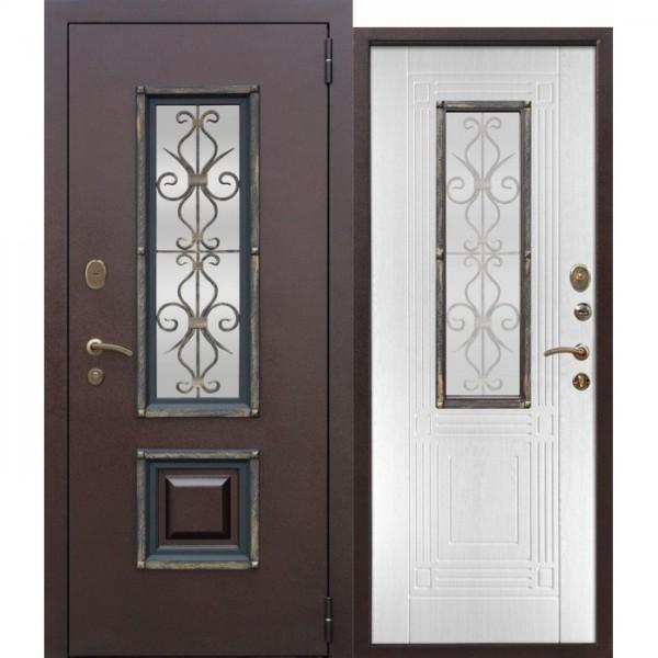 Искали, где купить Входная металлическая дверь со стеклопакетом Венеция Белый ясень?