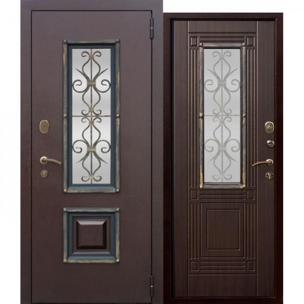 Искали, где купить Входная металлическая дверь со стеклопакетом Венеция Венге?